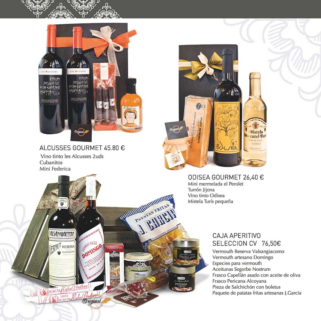 Catálogo de regalos con productos valencianos elaborados por Original CV. ¡Regala productos autóctonos de la Comunidad Valenciana!